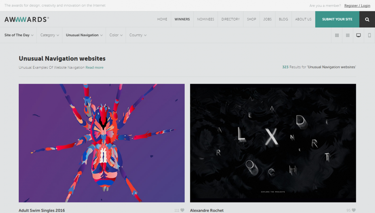 awwwards-experimental-web-design