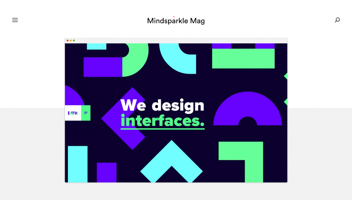 mindsparkle-experimental-web-design